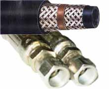 2-Wire Braid Hydraulic Hose -Female x Female JIC