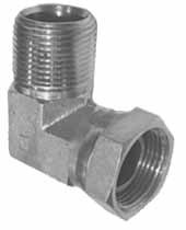 Hydraulic Fittings - Pipe Swivel Adapter  - 90° Male x Female Swivel Nut