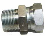 Hydraulic Fittings - Pipe Swivel Union Adapter- Male x Female Swivel Nut