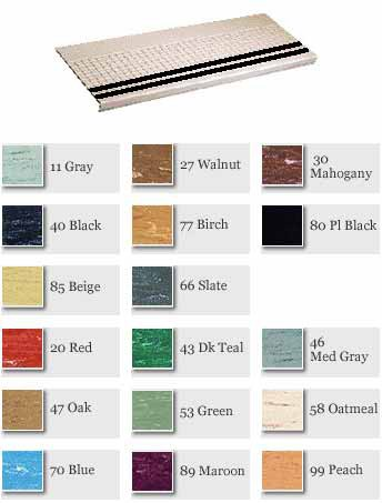Molded Rubber Grit Strip Rectangular Design Stair Treads 2150-3/GS500