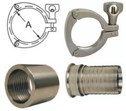 Add on for Stainless Steel Sanitary expansion couplings Attached