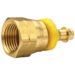 Push-On Hose Barb - Female 45° SAE Swivel