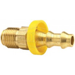 Push-On Hose Barb - Male SAE Swivel