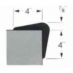 Extruded Gray Rubber Corner Guard - 7/8in. x 4in.
