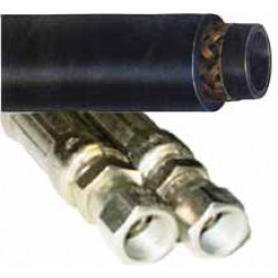 1-Wire Braid Hydraulic Hose - Female x Female JIC
