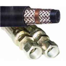 2-Wire Braid Hydraulic Hose - Female x Female JIC