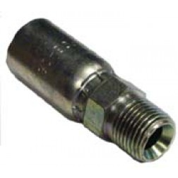 Crimp couplings for 1 and 2 wire Hydraulic Hose-Male NPT