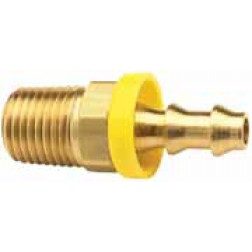 Push-On Hose Barb - Male NPTF