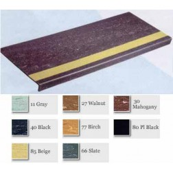 Heavy Duty Molded Rubber Grit-Strip Stair Treads/For Visually Impaired #GS200 and #GS200VI