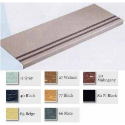 Heavy Duty, Long Nose Molded Rubber Grit-Strip Stair Treads/For Visually Impaired #GS225 and #GS225VI