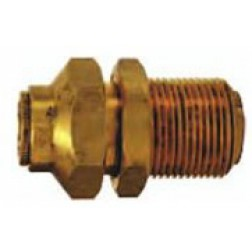 Brass Push-In Fittings - Bulkhead Unions