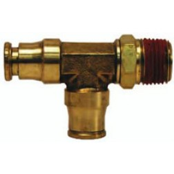 Brass Push-In Fittings - Male Swivel Run Tees