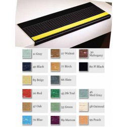 Molded Rubber Visually Impaired Grit-Strip Rectangular Design Stair Treads 2150-4/GS500VI