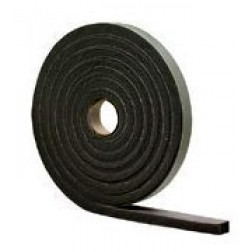 "Commercial Grade Neoprene Rubber Stripping 1/2"" Thick"