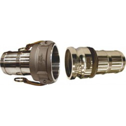 Stainless Steel Cam and Groove Couplings Part C and Part E Attached