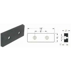 Molded Black Rubber Dock Bumper 2in. x 8in. x 18in. M-2818
