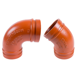 KLAMPz brand grooved fittings and clamps K10 90 Deg Elbow and K11 45 Deg Elbow