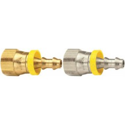 Push-On Hose Barb - Female 45° SAE/37° JIC Swivel