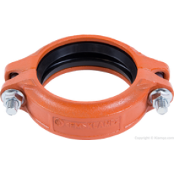 KLAMPz brand grooved fittings and clamps K05 Flexible Coupling 4582-5 and K-07 Ridgid Coupling