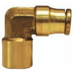 Brass Push-In Fittings - Female Elbows