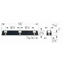 Molded Black Rubber Trailer Bumper T-41